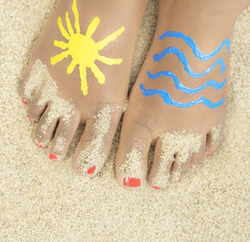 picture of painted toes  - Holiday  - JPG