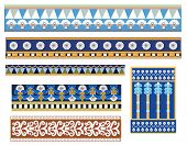 set of babylonian pattern designs