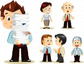 stock photo of cartoon character  - Set of people about Business activity in office - JPG