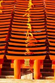 foto of inari  - Small praying torii cards at the Fushimi Inari Shrine in Kyoto Japan - JPG