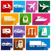 Transport flat icon, bright color-09
