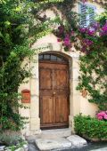Villa doorway, France