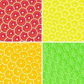 Collage of many fruits