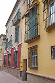 Houses On A Street In Seville, Spain