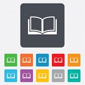 Book sign icon. Open book symbol.