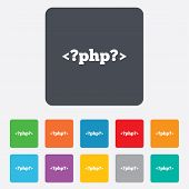 PHP sign icon. Programming language symbol.