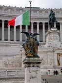 ROME, ITALY - April 28, 2014:The National ,monument A Vittorio Emanuele Ii On The The Piazza Venezia