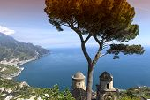 Coastline in Ravello, Amalfi coast, italy