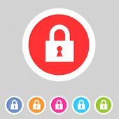 Flat game graphics icon lock