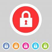 Flat game graphics icon lock