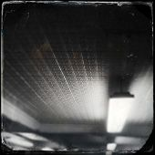 Instagram style image of an old tin ceiling tiles