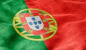 Oblique view of the Flag of Portugal