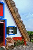 Traditional rural landscape. The village - Museum of the Portuguese island of Madeira. The little wh