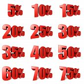 Collection of Percentage Discounts