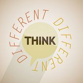 Think different bubble vector