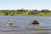 Volga River Summer Landscape