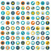 Minimalist flat ui vector design element and icon set.