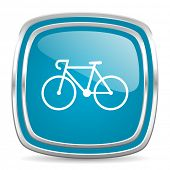 bicycle blue glossy icon