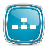 database blue glossy icon