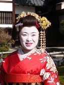 Japanese lady in Geisha costumes
