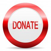 donate glossy web icon