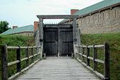 image of entryway  - An old Fort entryway in Ontario - JPG