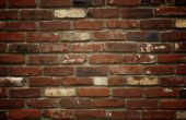 Brick wall background with vignette