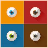 Colorful eyes vector illustration