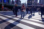 Shinjuku, Tokyo - December 17: Street view of Shinjuku. Shinjuku is a special ward located in Tokyo Metropolis, Population density of 17,140 people per km. December 17, 2013 in Tokyo, Japan.
