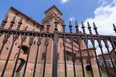 picture of ferrara  - old Estense Castle in Ferrara in Italy - JPG