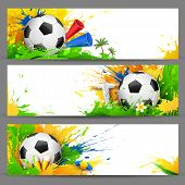 pic of brasilia  - illustration of soccer ball in Football banner - JPG