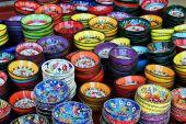 Colourful tea bowls