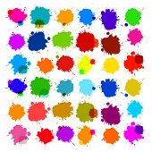 Colorful Vector Splashes - Blot, Stains Set