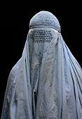 Close up of burqa