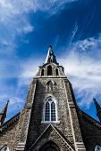 Xxxl Church Steeple Panorama And Sky