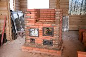 Half Unfinished Brick Stove