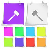 Mallet. Vector note papers.