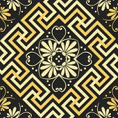 Vector Seamless Vintage Gold Greek Ornament (meander)