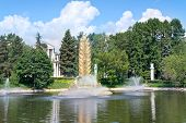 Vdnkh, A Fountain Is The Gold Ear