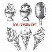 Ice cream set.