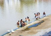 Pilgrims Take Ritual Bathing In Holy Lake