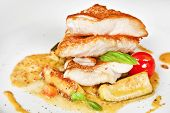 pic of grouper  - Grouper fillet with zucchini and mustard sauce - JPG
