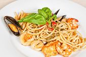 Linguine Pasta With Seafood