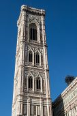 Florence, Italy. Detail Of The Bell Tower During A Bright Sunny Day.