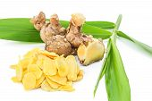 stock photo of massage oil  - Cassumunar ginger - JPG