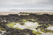 stock photo of anglesey  - Beach at low tide at Rhosneigr in Anglesey North Wales - JPG