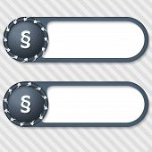 Set Of Two Vector Buttons With Arrows And Paragraph