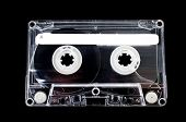 Cassette Tape On Black Background