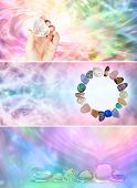 3 Crystal Healer's website banners