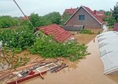 OBRENOVAC  SERBIA - MAY - FLOODS